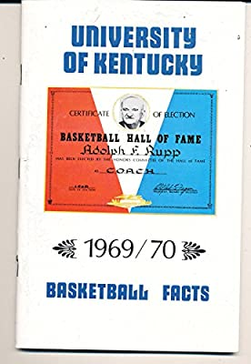 1969 - 1970 University of Kentucky Basketball press Media guide - bx69