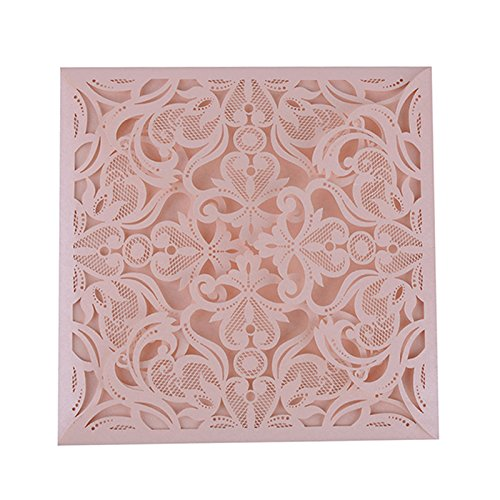 YUFENG 60pcs Laser Cut Wedding Invitations Cards Kit for Marriage Engagement Birthday Bridal Shower ()