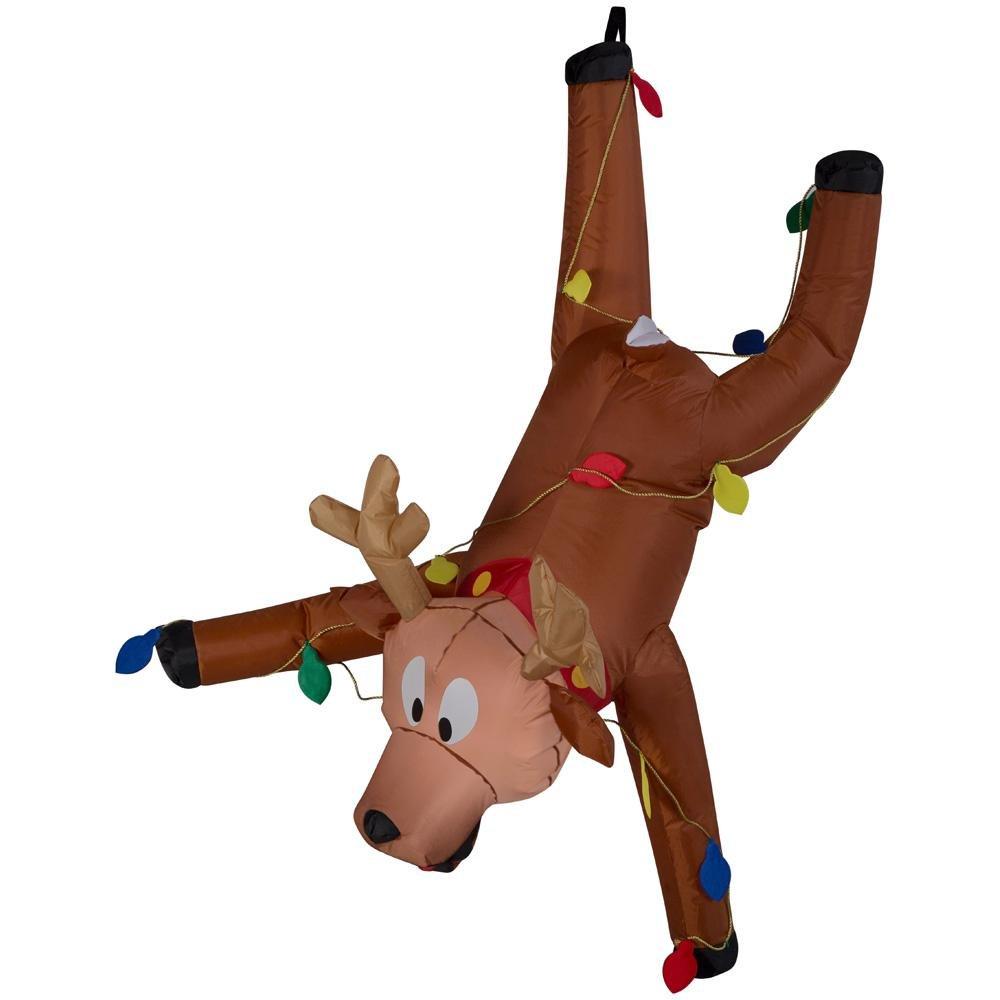 Amazon.com: Inflatable Hanging Santa 6.5ft And Reindeer 4ft   Set Of 2    Fun Airblown For Christmas: Garden U0026 Outdoor