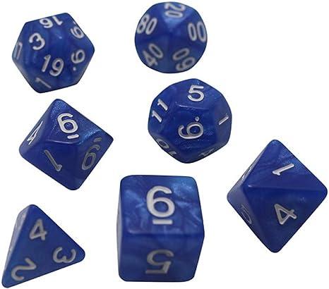 Dados,Poliédricas Portátil Sólido Conjunto De Dados Accesorios Colorido Juego De Mesa,DND,RPG Parte Bar Kty Plástico Azul Mármol(3Pcs): Amazon.es: Deportes y aire libre