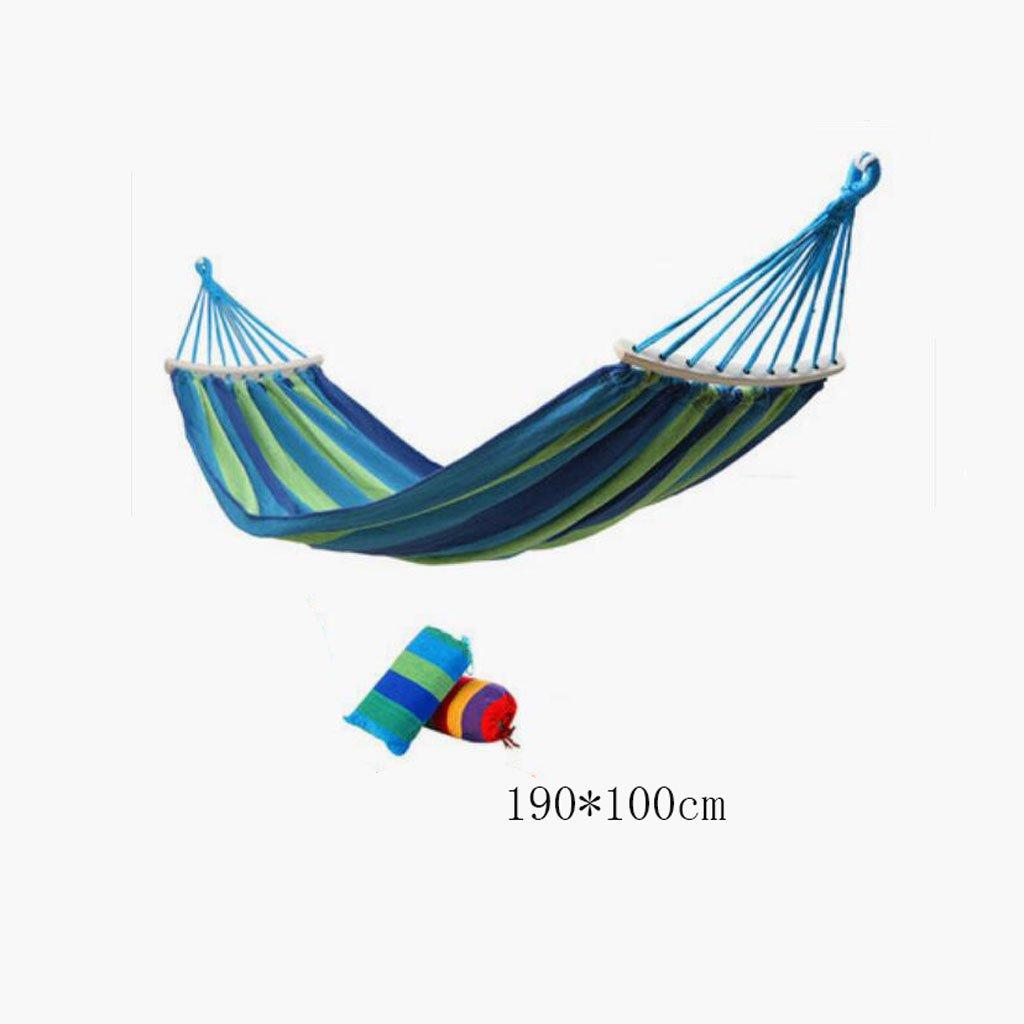 Hängematte Outdoor Hängematte Camping Camping Schaukel Hängematte Bergsteigen Hängematte blau Leinwand Hängematte portable Hängematte Anti-Rollover Hängematte (Lagerbeutel  1, Seil Kind), (190  100cm)