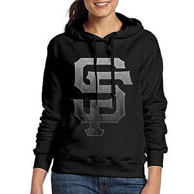 LOYRA Women's San SF Francisco Hooded Sweatshirt Black