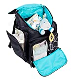 Shona Quilted 5 Piece Diaper Bag Backpack Set, Dry