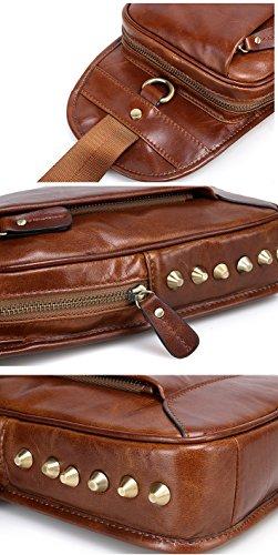 Marrón marrón bandolera oscuro hombre Borgasets Bolso qWBpnt40