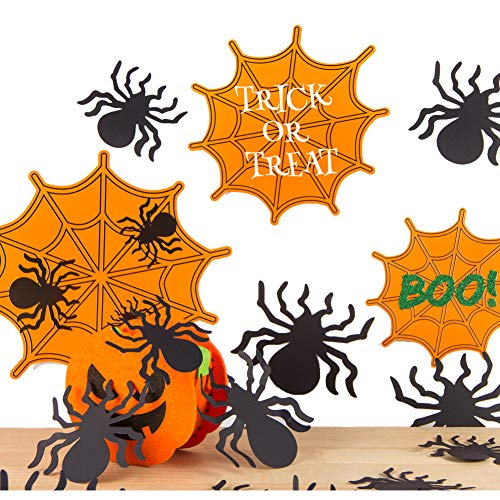 EasyJoy Spider Web Halloween 3D Wall Stikers Window Decal Trick or Treat Happy Halloween Party Supplies (Spider) ()