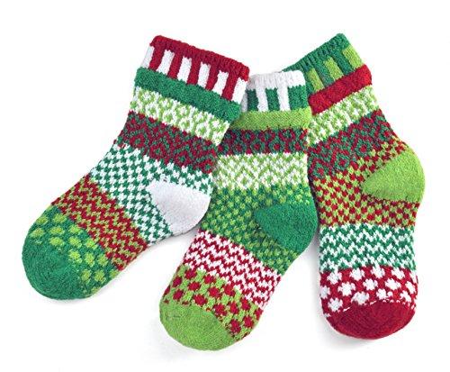 (Solmate Socks, Mismatched Kids socks, A pair with a spare, Humbug Medium)