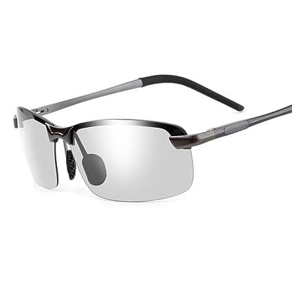 YaNanHome Gafas cambiantes de Color Día y Noche Gafas polarizadas Que conducen Gafas de Sol Que