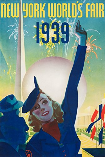 1939 Worlds Fair Poster - New York World's Fair 1939 Vintage Poster (artist: Staehle) USA c. 1939 (9x12 Art Print, Wall Decor Travel Poster)