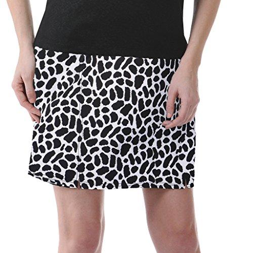 - Monterey Club Ladies Dry Swing Giraffe Black and White Print Skort #2889 (Black/Cream, X-Small)