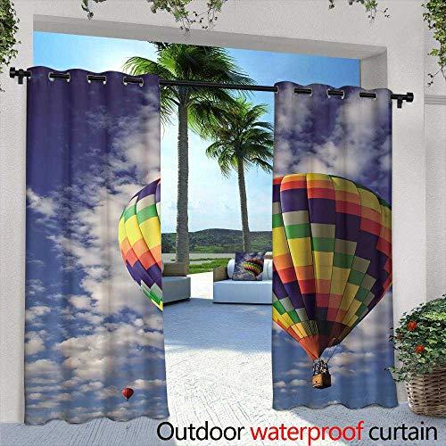 Lightly Patio Curtains,Purple iris Flowers Collage,W72 x L96 Outdoor Curtain for Patio,Outdoor Patio -
