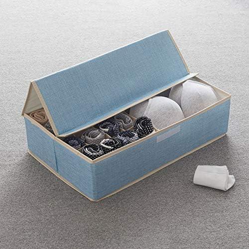 DUKEMG Ropa Interior Ropa Interior Caja Almacenamiento Tipo cajón Calcetines domésticos Caja Ropa Interior Ropa Interior Sujetador Caja Almacenamiento Tela 17 rejillaB50x31x13cm 05: Amazon.es: Hogar