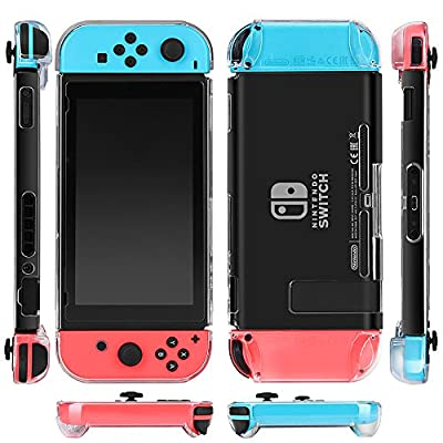 TNP Nintendo Switch Case - Ultra Clear Crystal Transparent Slim Hard Shell Protective Case Full Body Cover for Nintendo Switch Tablet Console & Joy-Con Case Cover Accessories Skin from TNP Products