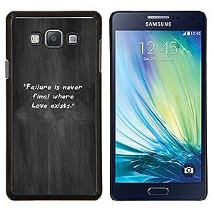 EJOOY---Cubierta de la caja de protección para la piel dura ** Samsung Galaxy A7 A7000 ** --Gris Niebla El incumplimiento Humo Cita inspiradora