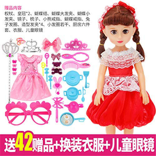 Assembly Smart Dialogue Talking Doll Simulation Doll playsets Girl Children Princess Girl Singing Cloth Wink Intelligent Talking Doll ([xi + xi Send Clothes Sets Glasses ()