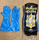 Marigold Gloves Nitrile Rubber Textured Size 6-1/2 Small G25B 12 Pairs