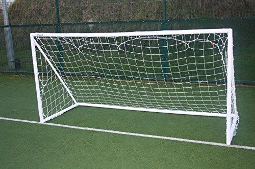 Mitre Unisex's Weatherproof PVC Plastic Portable Football Goal, White, 8 x 4 Feet