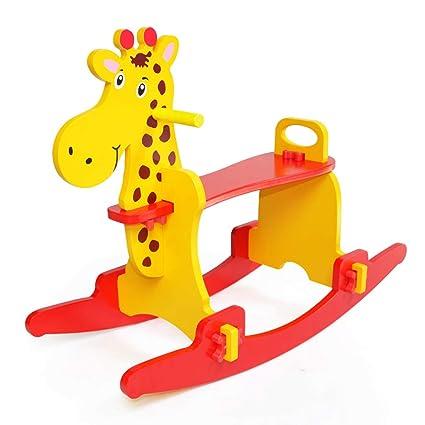 Cavallo Di Legno Giocattolo.Cavallo Dondolo Cavallo Di Legno Per Bambini Solido Sedia A Dondolo