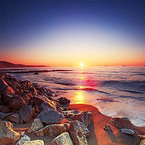 美しいサンセットビーチロマンチックな風景壁画3D壁紙リビングルームソファテレビホームデコレーション-200X140Cm