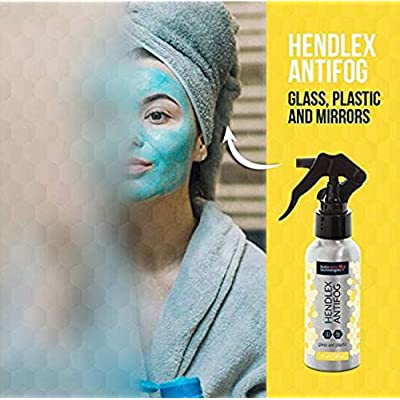 Hendlex Anti Fog Spray Nano Coating Anti Mist for Glass & Plastic Treatment Fogless Resistant Spray for Car Window Windshield Glasses Helmet Bathroom Mirrors Shower Doors (100 ml): Automotive