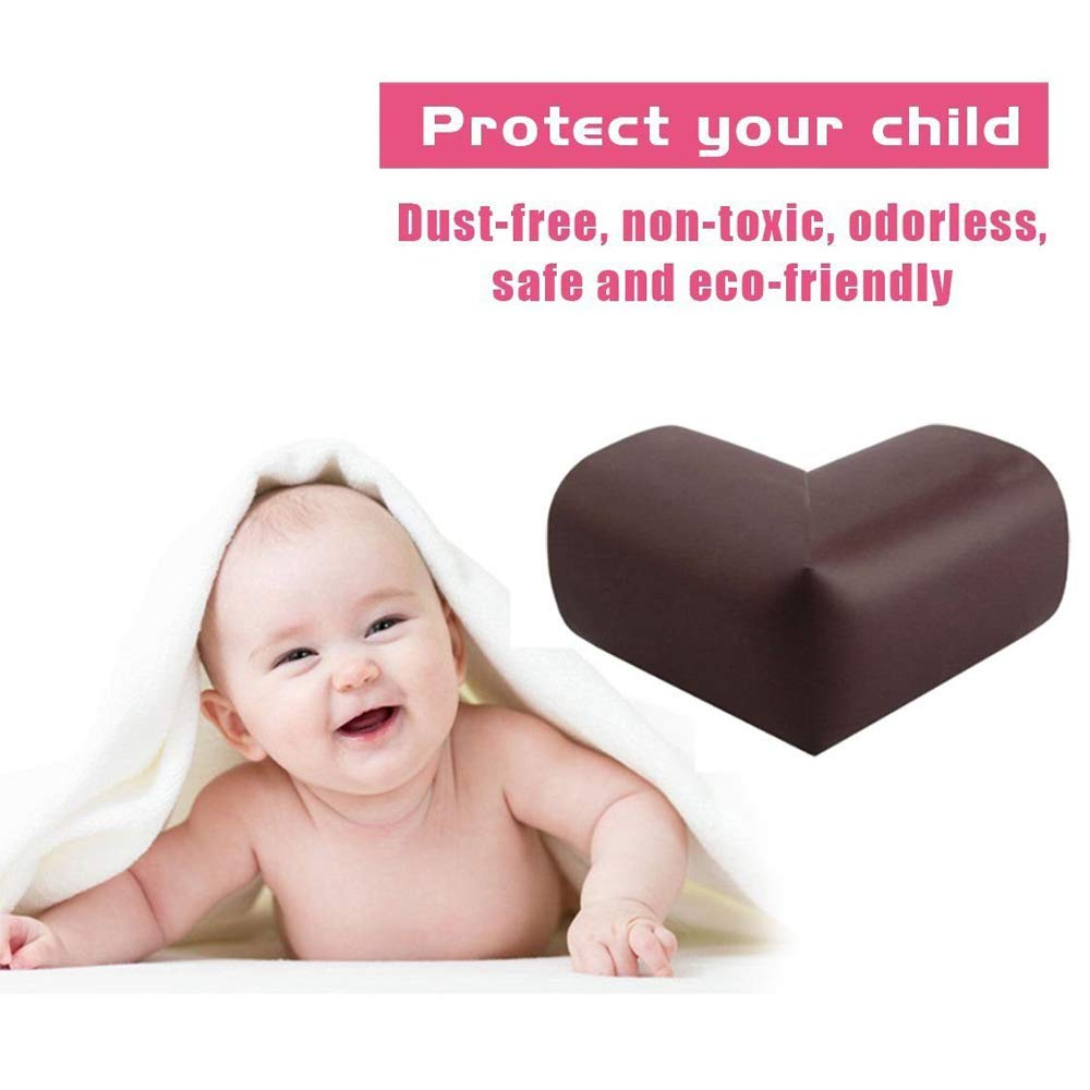 Table Corner Protectors for Baby,Super Soft Edge Protectors with 3M Tape for Furniture to Keep Kids Safe Corner Cushion TourKing 10pcs Corner Guards