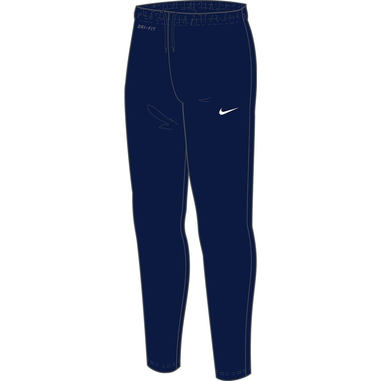 NIKE Youth Libero Tech Knit Pant 588393-419 (Medium, Navy Blue)