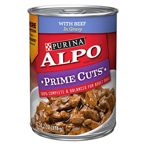 Purina ALPO Gravy Wet Dog Food; Prime Cuts With Beef - 13.2 oz. Can (Pack of 12)