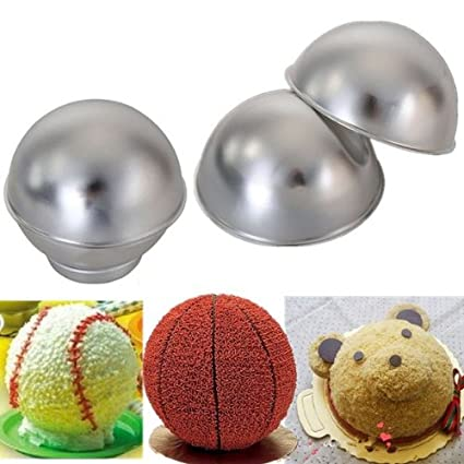 Creative 3D Sports Ball Shaped Cake Pan Baking Mold Set // Molde para pasteles en