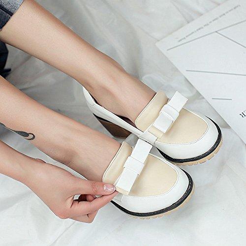 Slacciata Scarpe Da Donna Latasa Tacco Basso Bianco (colore Principale)