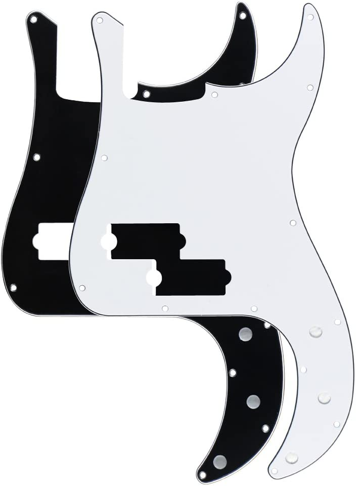 11Holes 4PLY Pickguard with Pearl Red For Fender Precision Bass PB Guitar