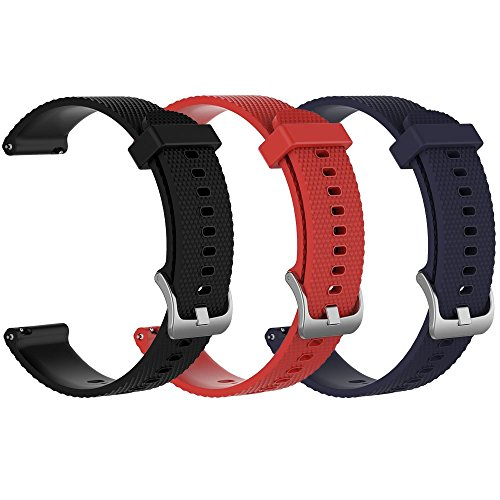 ZSZCXD Band for Garmin Vivoactive 3, Silicone Replacement WatchBand Strap Band Wristband for Garmin Vivoactive - Set Wristband Pack 3
