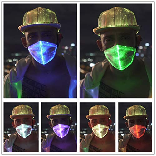 1clienic LED Rave Mask Light Up LED Dust Mask Glow 7 Color Rechargeable Luminous LED Mask Light Up P - http://coolthings.us