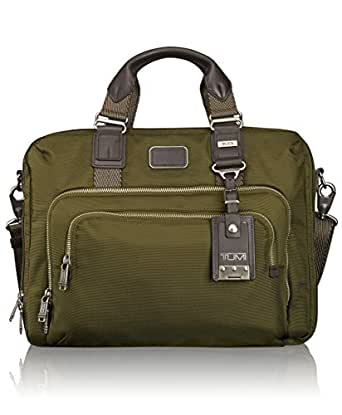 Tumi Alpha Bravo Yuma Slim Brief, Olive, One Size