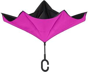 ShedRain Reversible Stick Hot Pink Umbrella, 1 EA