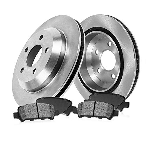 S10 Disc Brake Chevrolet ([ 4WD ] REAR 295 mm Premium OE 5 Lug [2] Brake Disc Rotors + [4] Metallic Brake Pads)
