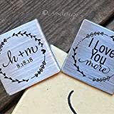 I Love You More Cufflinks Personalized Gift for Groom from Bride on Wedding Day Husband Gift from Wife Anniversary Gift Birthday Gift Mens