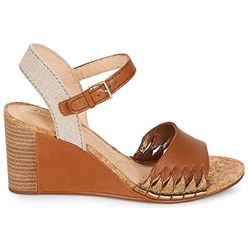 Lacets Spiced Marron Chaussures Poppy à Pour Ville Marron Femme Clarks de FdYnwUxY