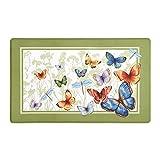 Achim Home Furnishings ANFTMBTF12 Butterflies Anti Fatigue Mat, 18' x 30'