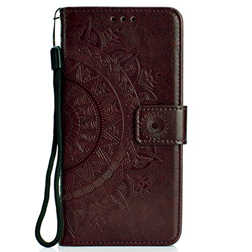 - Samsung Galaxy A10 Case, Lomogo Leather Wallet Case with Kickstand Card Holder Shockproof Flip Case Cover for Samsung Galaxy A10 - LOHHA080132 Brown