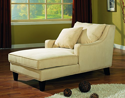 Coaster Furniture Comfortable Microfiber Chaise Lounger, ...