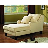 Coaster Transitional Beige Microfiber Chaise Lounge