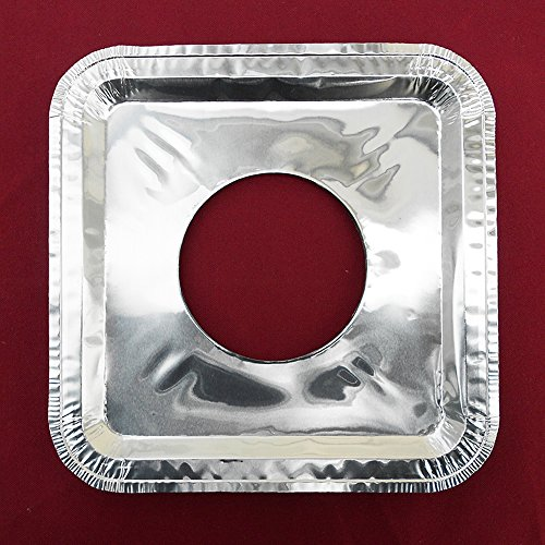 400 Pcs Aluminum Foil Square Gas Burner Disposable Bib Liners Covers (1 Pc Cavalier)