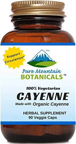 Cayenne Pepper Capsules - 90 Kosher Caps - Now with 500mg Organic Cayenne Pepper Fruit Powder - Nature's Best Hot (Cayenne Pepper Fruit)