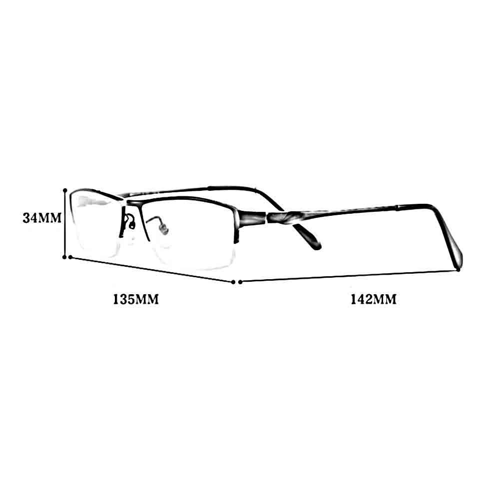 BYCSD Mens Sunglasses Anti-Blu-ray Radiation Protection Computer Goggle Glasses Flat Mirror Half Frame Titanium Frames Business Men Eyes Protection