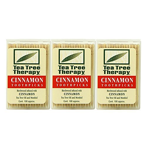 (Tea Tree Therapy Toothpicks, Cinnamon, 100 Count (3-Pack))