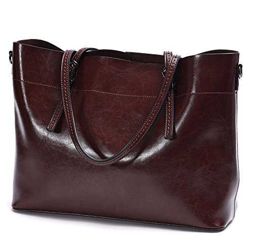 Large Genuine Leather Totes Handbags,Artmis Women Vintage Crossbody Purses Shoulder Bags For Work Fit Up13.3-14.1