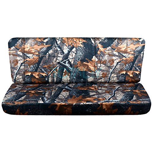 Totally Covers Fits 1992-1997 Ford F-150 F-250 F-350 Camo Truck Seat Covers (Rear Solid Bench) w/wo Bolster Backrest: Gray Real Tree Camouflage 1993 1994 1995 1996 F-Series F150 F250 F350 Back