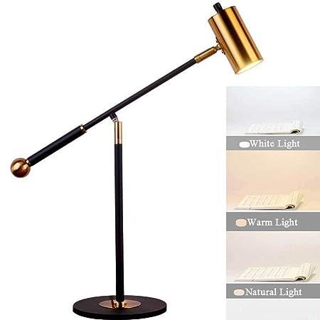 XKHG Lampara Escritorio,Lámparas de Mesa,9W E27 Enchufar Moderno ...