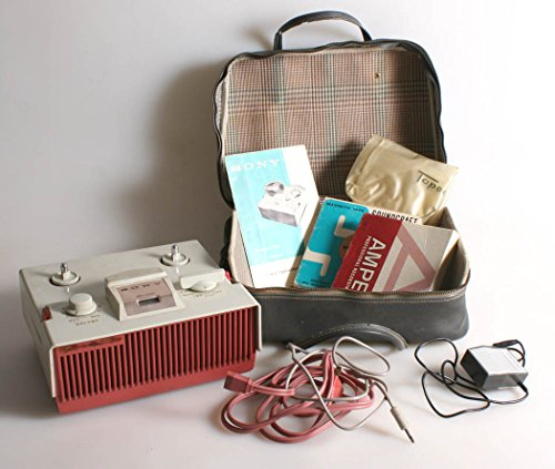 VINTAGE SONY TAPECORDER MODEL 111 REEL TAPE RECORDER IN CASE W/ MANUALS AND (Recorder Manual)