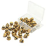 Sywon 40 Pack Brass Misting Nozzles Replacement Heads for Garden Patio Lawn Landscaping Dust Control and Outdoor Cooling Mister System, 10/24 UNC