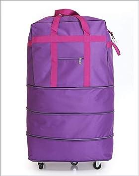 HW Equipaje con Ruedas, Maleta Plegable Grande, Maletero - Maleta con 5 Ruedas,Purple: Amazon.es: Hogar